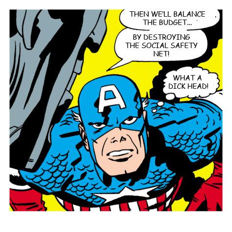 Captain America thinks Paul Ryan is a dickhead.