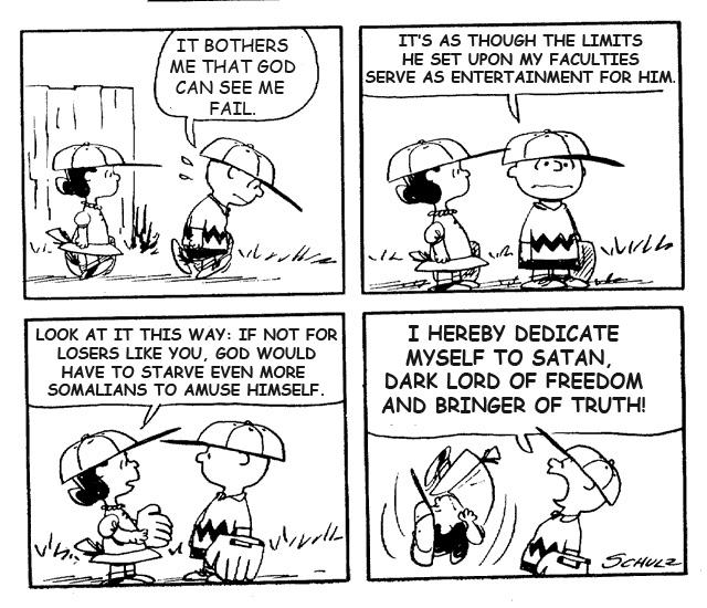 Peanuts cartoon with religion